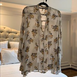 White Floral Tunic